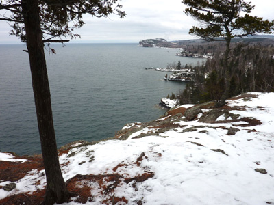 In search of February ice at Shovel Point