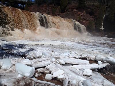 Broken Up River Ice