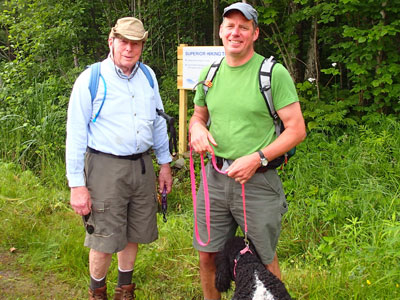 Dick and Andrew Slade at Martin Road trailhead