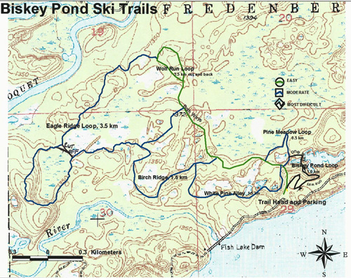 Biskey Ponds ski trails