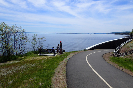 Duluth Lakewalk tunnel for bikes