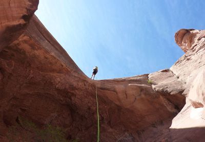 Canyoneering in Utah, thinking of Minnesota
