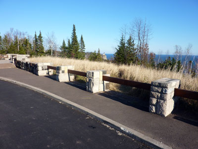 Check out the new wayside at Split Rock