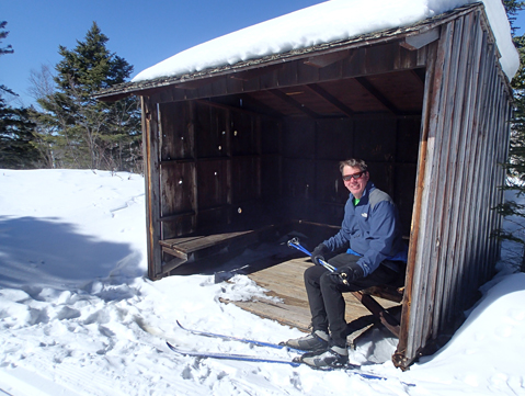 Trail shelter located on the eastern hills of Gooseberry State Park.